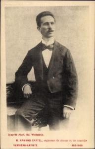 Ak M. Armand Cartel, regisseur de drame det de comedie, Portrait