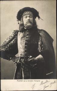 Ak Schauspieler, Hamel de la Comedie Francaise, Hamlet