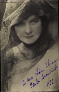 Foto Ak Portrait einer Schauspielerin, Autogramm