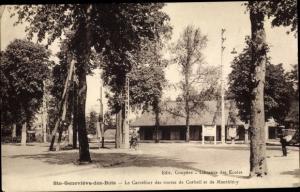 Ak Sainte Genevieve des Bois Essonne, Le Carrefour des routes de Corbeil