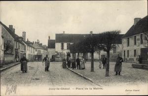 Ak Jouy le Chatel Seine et Marne, Place de la Mairie