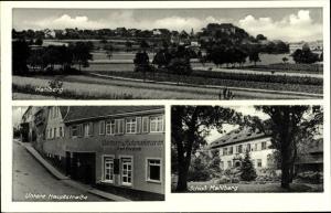 Ak Mahlberg Bad Münstereifel in Nordrhein Westfalen, Untere Hauptstraße, Schloss, Totale