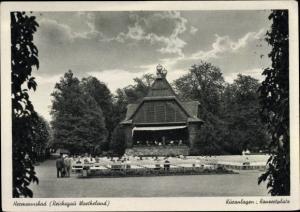 Ak Ciechocinek Hermannsbad Polen, Kuranlagen, Konzertplatz