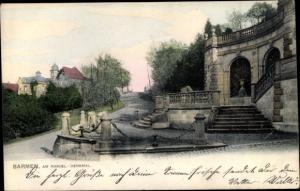 Ak Barmen Wuppertal, Am Ringel Denkmal
