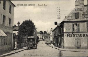 Ak Annet sur Marne Seine et Marne, Grande Rue