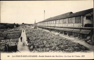 Ak La Ferte sous Jouarre Seine et Marne, Societe Generale des Meulierea, La Cour de l'Usine