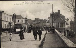 Ak Erigne Maine et Loire, Le Ponts de Ce, Point terminus des Tramway