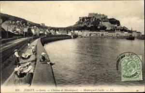 Ak Gorey St Martin Kanalinsel Jersey, Chateau de Montorgueil