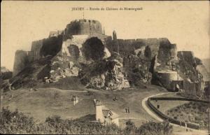 Ak Kanalinsel Jersey, Entrée de Chàteau de Montorgueil