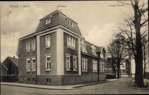 Ak Mesum in Westfalen, Rathaus, Joseph Schule