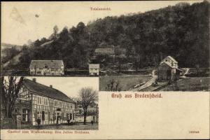 Ak Bredenscheid Stüter Hattingen im Ennepe Ruhr Kreis, Panorama vom Ort, Gasthof zum Wiedenkamp
