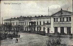 Ak Sosnowice Brzeźnica Sosnowicze Polen, Bahnhof