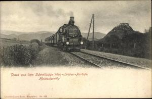Ak Schnellzug auf der Strecke Wien Leoben Pontafei Hochosterwitz