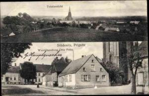 Ak Stüdenitz Schönermark in Brandenburg, Totalansicht von Ort, Warenhandlung Otto Fritz