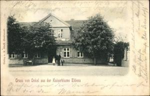 Ak Eldena in Mecklenburg, Gasthaus Onkel aus der Kaiserblume