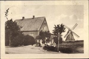 Ak Altkalen im Landkreis Rostock, Sommerfrische Preuss, Windmühle