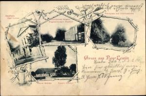 Ak Neulewin Landkreis Märkisch Oderland, Kaufhaus Paul Lorenz, Karlsbieser Straße, Wegenerowsky's G.