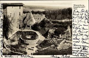 Ak Kapellendorf Weimarer Land, Wasserburg, Pallas mit alter Kirchbergburg