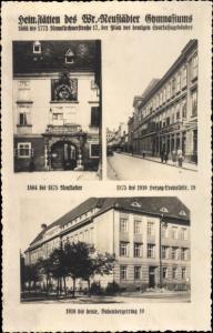 Ak Wiener Neustadt Niederösterreich, Heimstätten des Gymansiums, Neukloster, Babenbergerring