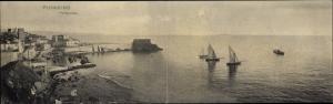 Klapp Ak Piombino Toskana, Teilansicht vom Ort, Hafen, Segelboote