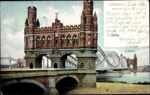 Ak Hamburg Mitte Altstadt, Elbbrücke