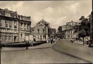 Ak Staßfurt Sachsen Anhalt, August Bebel Straße