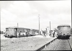 Ak Deutsche Eisenbahn, Vorortbahnen AKN und ANB im Bahnhof Ulzuburg Süd