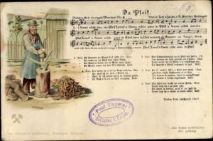 Lied Ak Da Pfeif, erzgebirgische Mundart No. 8, Anton Günther, Holzhacker