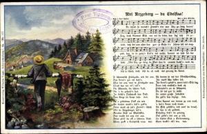 Lied Ak Mei Arzgeberg, du Edelstaa, Erzgebirge, Wilhelm Vogel