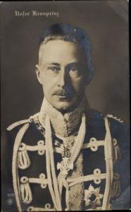 Ak Kronprinz Wilhelm von Preußen, Husarenuniform, NPG 5048