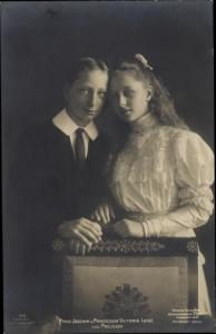 Ak Prinz Joachim von Preußen, Prinzessin Victoria Luise von Preußen, Portrait, Liersch