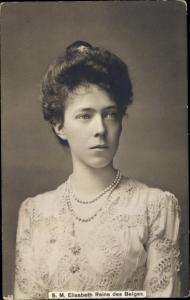 Ak Königin Elisabeth von Belgien, Reine des Belges, Portrait