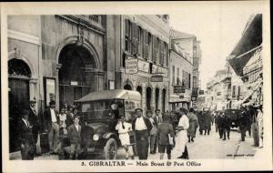 Ak Gibraltar, Main Street and Post Office, Car