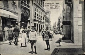 Ak Gibraltar, Waterport Street with Post Office