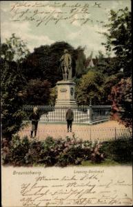 Ak Braunschweig in Niedersachsen, Lessingdenkmal