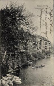Ak Braunschweig in Niedersachsen, Bootsstation am August Tor