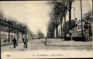 Ak Le Bourget Seine Saint Denis, Route de Flandre