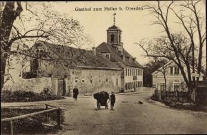 Ak Dresden Nord Hellerau, Gasthof zum Heller