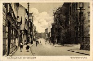 Ak Neumühlen Dietrichsdorf Kiel in Schleswig Holstein, Heikendorfer Weg