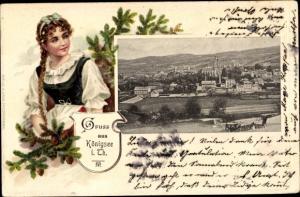Präge Ak Königsee in Thüringen, Gesamtansicht