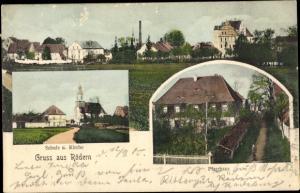 Ak Rödern Ebersbach Sachsen, Schule, Kirche, Pfarrhaus