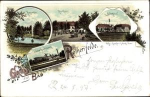 Litho Ak Bad Rothenfelde am Teutoburger Wald, Kurgarten, Kurhaus, Badehotel