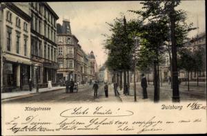 Ak Duisburg im Ruhrgebiet, Königstraße, Passanten