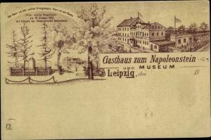 Litho Leipzig in Sachsen, Gasthaus zum Napoleonstein, Museum