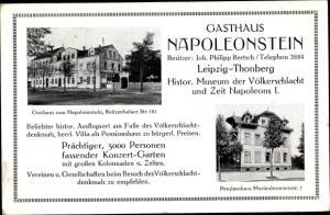 Ak Reudnitz Thonberg Leipzig in Sachsen, Gasthaus Napoleonstein, Joh. Philipp Bertsch