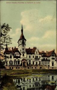 Ak Zlín Zlínský kraj in Mähren, Schloss Lešná, Seifernu na Lesne, Schloss