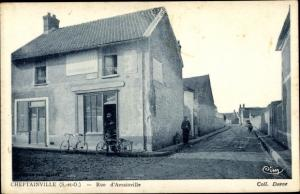 Ak Cheptainville Essonne, Rue d'Avrainville