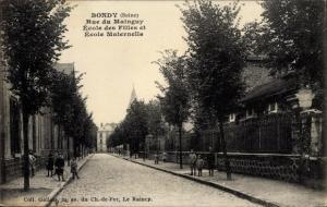 Ak Bondy Seine Saint Denis, Rue du Mainguy, Ecole des Filles, Ecole Maternelle
