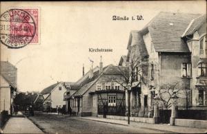Ak Bünde in Westfalen, Kirchstraße