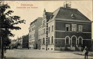 Ak Elsterwerda im Kreis Elbe Elster, Elsterstraße, Postamt